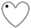 Heart Tag Template